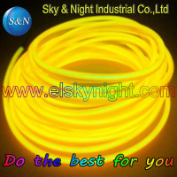 NEW!!! 3.2mm Ultra high brightness welted wire/Skirt wire/Electroluminescent wire/El cable/EL products 10M