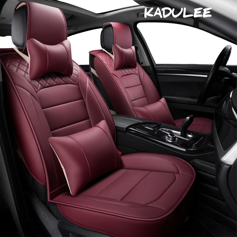 KADULEE pu leather auto Universal Car Seat covers for Mercedes Benz all models A160 180 B200 c200 c300 E class GLA GLE S600 ML