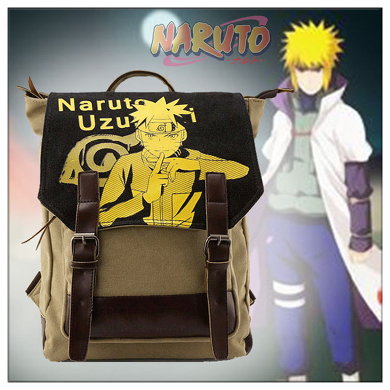 Cartoon Canvas Backpack Naruto School Bookbag for Teenagers Laptop Rucksack Schoolbags Mochila Escolar