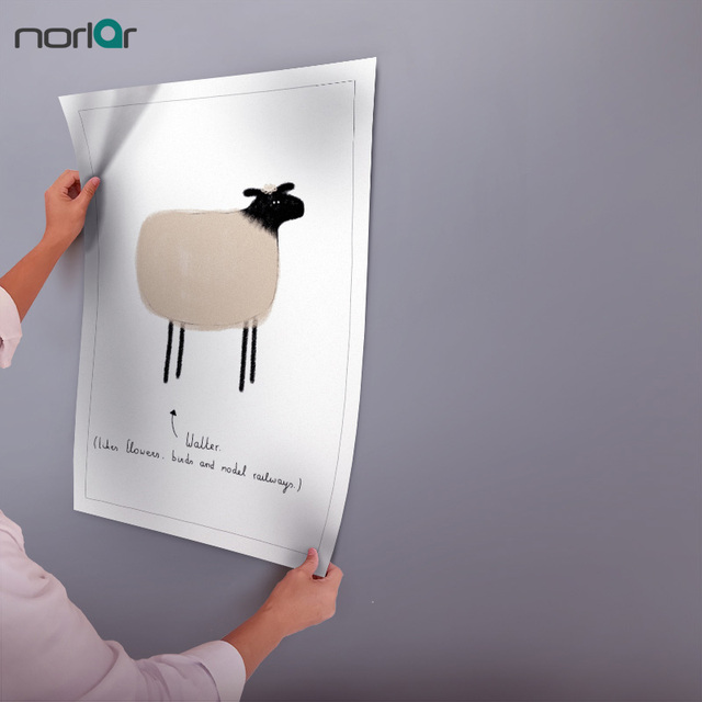 canvas painting art posters prints sheep wall art kids room decor minimalist cartoon cute small animal - Small Animal Pictures To Print