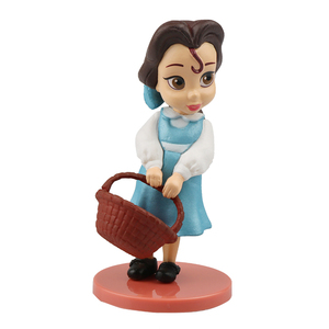 Image 5 - 디즈니 프린세스 11 pcs 액션 피규어 8 cm 모아 나 백설 공주 메리다 뮬란 인어 티아나 재스민 인형 어린이 장난감 어린이 컬렉션