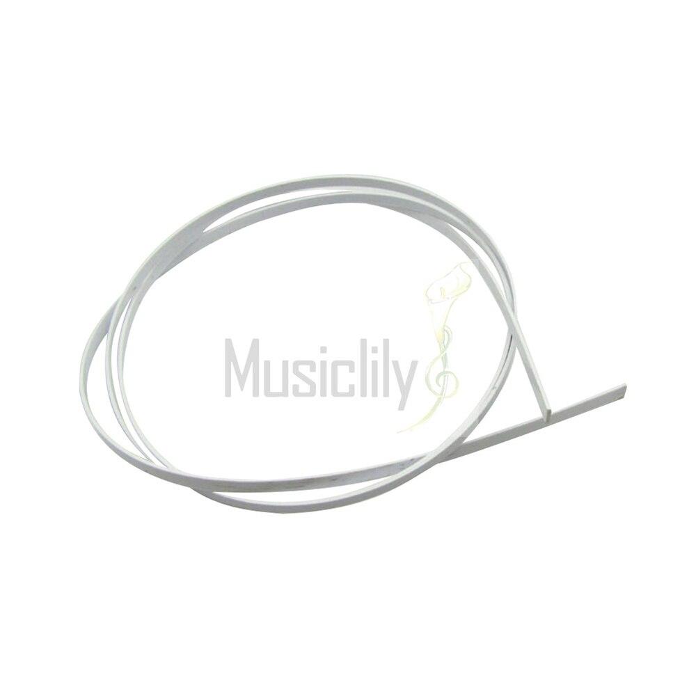 2Pcs White 1650 x 6 x 1.5mm Plastic Plastic Binding