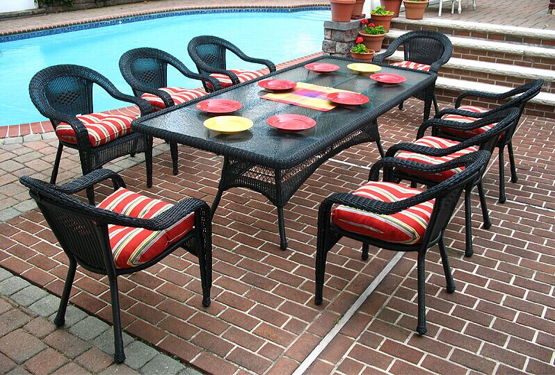 8 Seater Rattan Dining Table