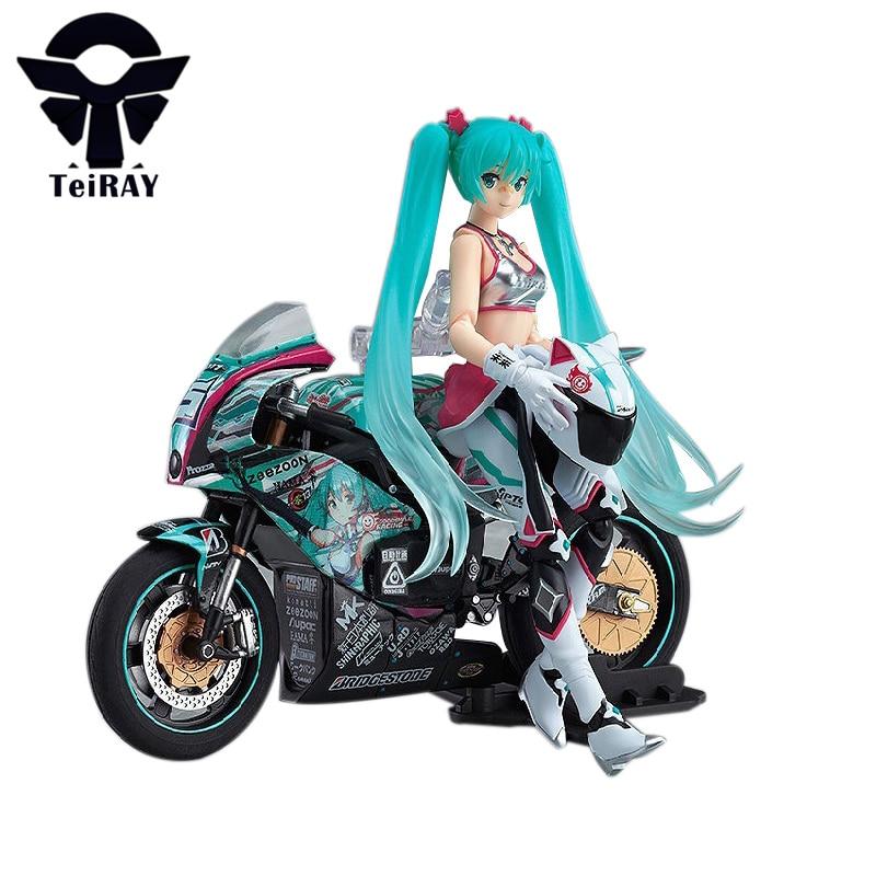 Hatsune Miku Racing MIku with Motorcycle Figma 19CM Japan ...