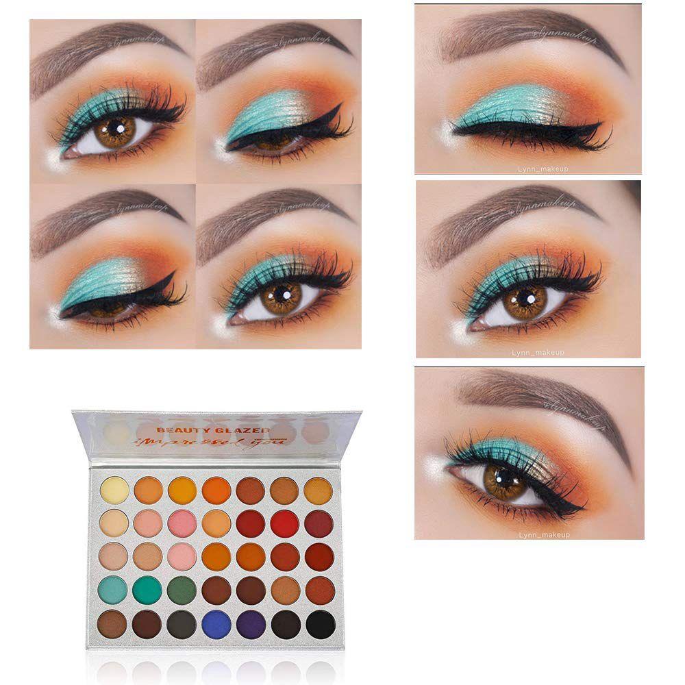 Beauty Glazed Waterproof Eye Shadow Pigment Palette Matte Professional Eyeshadows Women Nude Make Up Palette Glitter Eye Shadow in Eye Shadow from Beauty Health