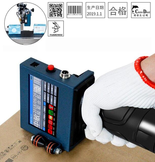 Akıllı taşınabilir tarih yazıcı lazer markalama makinesi üretim tarihi QR kod kodlama makinesi 2 12.7MM siyah mürekkep kartuşu