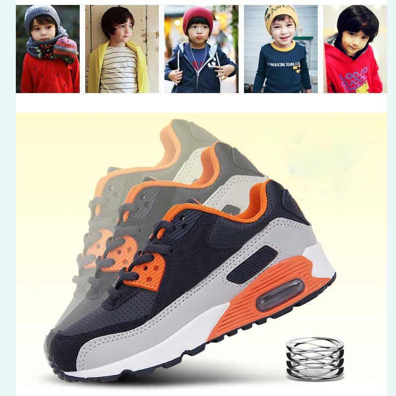 Crianças Correndo Tênis Meninos Meninas Max 90 Esportes Respirável Sapatos Crianças Sapato Almofada de Ar Ao Ar Livre Confortáveis Sapatos Wallking