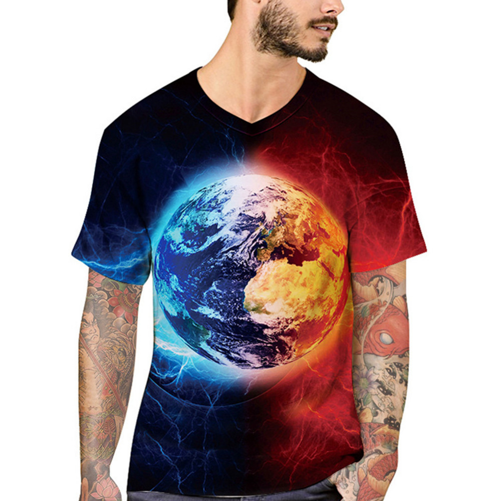 2018 3D Print T Shirt Men Short Sleeve Space Galaxy Tshirt Brand Harajuku Hip Hop T-shirt Summer Streetwear Tops Tees Camisetas