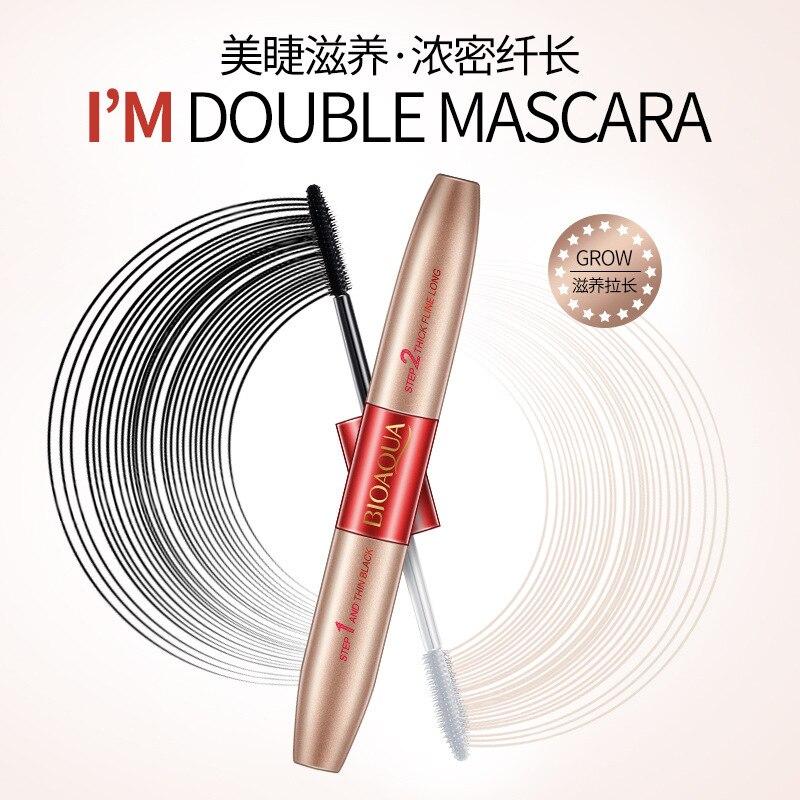 BIOAQUA Waterproof Black font b Mascara b font Long lasting Eyelash Extension Eyelash Cream Cosmetic Make