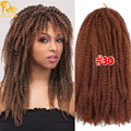 Soft Marley Hair Crochet Braids 18Inch Omber Kanekalon Marley Hair Extensions Synthetic Afro Marley Kinky Crochet Hair Braids