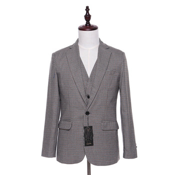 New men's suit jacket plaid wool fabric herringbone fashion wedding evening dress jacket men's slim suit jacket custom size