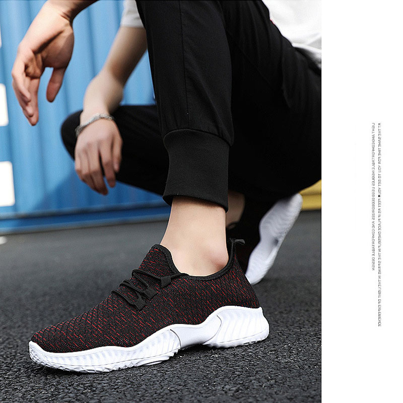 2019 New Trend Men's Sports Shoes Comfortable Low Top Sports Running Shoes Adult Lightweight Breathable Sports Shoes