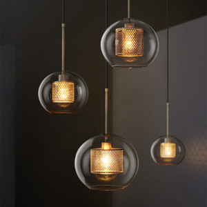 Image 3 - Nordic Industrial Loft Light Creative Concise Glass Dining Room Pendant Light Retro Bar Study Hanging light Free Shipping