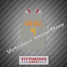 Minanser Rajon Rondo 4 Oak Hill Academy Gray Basketball Jersey Men(China) e17fdedba