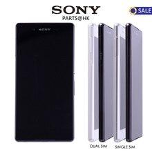 100% Оригинальные черный, белый цвет 5.2 «1920×1080 Sony Xperia Z4 ЖК-дисплей Дисплей Сенсорный экран с Рамка планшета Ассамблеи Замена