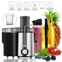 Automatic Household 1L Electric Juicer Large Diameter Stainless Multifunctional Mixer Fruit Vegetable+500ml Vacuum Cup