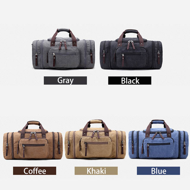 placeholder KVKY Brand Travel Bags Men s Large Capacity Handbag Luggage  Travel Duffle Bags Canvas Weekend Bags Multifunctional b315871244807
