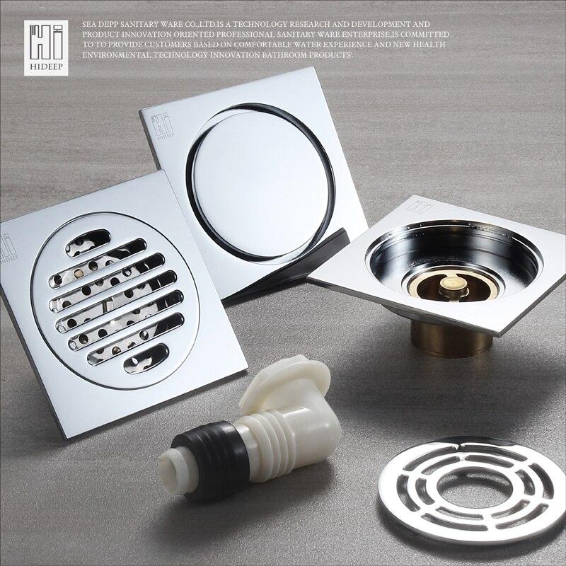 hideep floor drain cover colander shower waste drainer full brass bathroom kitchen colander floor drains bathroom