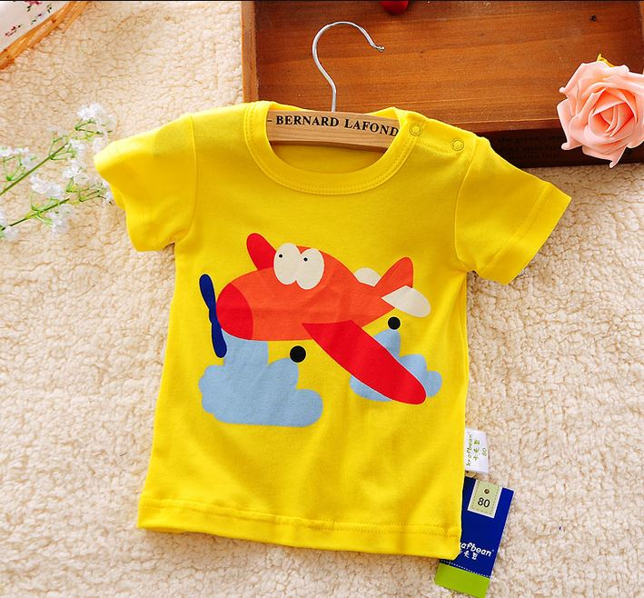 Baby Boys girls T-shirt 2016 Summer New Baby Clothing Baby Boys Short Sleeves T shirt Kids tops Cotton Cartoon Baby tees