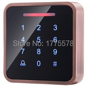 HEMIN Whole Sale Elegant Metal MF1 Touch Access Control with 3000pcs cards capacity,Touch Keypad, wiegand in and out support hemin whole sale elegant metal mf1 touch
