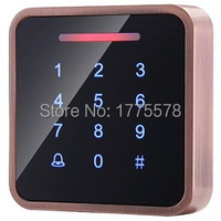 HEMIN Whole Sale Elegant Metal MF1 Touch Access Control with 3000pcs cards capacity,Touch Keypad, wiegand in and out support