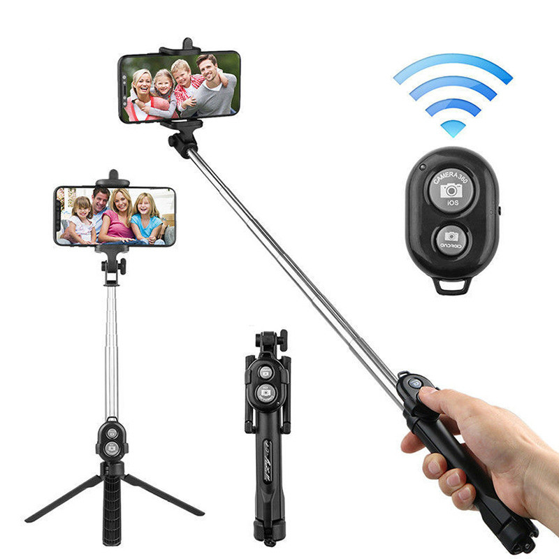 Protable Selfie Stick Tripod Bluetooth Monopod Selfie Stick Tripods With Button For Iphone 6 7 8 Plus IOS Android