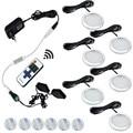 AIBOO 12 V bajo la luz del Gabinete luces LED Puck focos Downlight inalámbricos iluminación LED de cocina