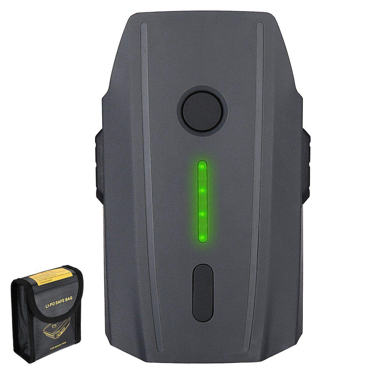Smart Drone 3830mAh Battery for DJI Mavic Pro and Battery Flame Retardant Bag clean doll 2 pack 3830mah replacement battery for dji mavic pro battery for dji mavic pro