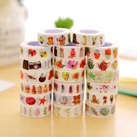 10 stks/partij Kleurrijke washi tape 15mm * 10 m dagboek leven Japanse papier Decoratieve tape DIY Scrapbooking Sticker shcool levert