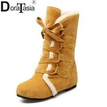 DORATASIA/; большие размеры 30-52; женская зимняя обувь по индивидуальному заказу; удобные зимние сапоги; модные теплые женские зимние сапоги