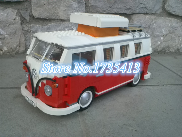 ФОТО AIBOULLY 306 Creator series the Volkswagen T1 Camper Van Model Building Blocks classic Compatible with 10220 Technic car Toys