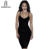 HAMBELELA 2017 Summer New Arrival Sexy Dress Braces Deep V-Neck Backless Sleevess Club Wear Fashion Bandage Sexy Trapeze Dress