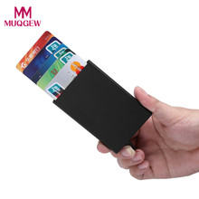 New Fashion Bank Credit Card Package Card Holder Business Card Case Gift Box Aluminum Alloy Card Wallet 5 Colors(China)