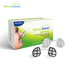WoodyKnows Super Defense Nasal Filters (2nd Generation) Nose Masks, Pollen Allergies Dust Allergy Relief, No pm2.5 air pollution woodyknows invisible nose nasal filters for flu haze pollen