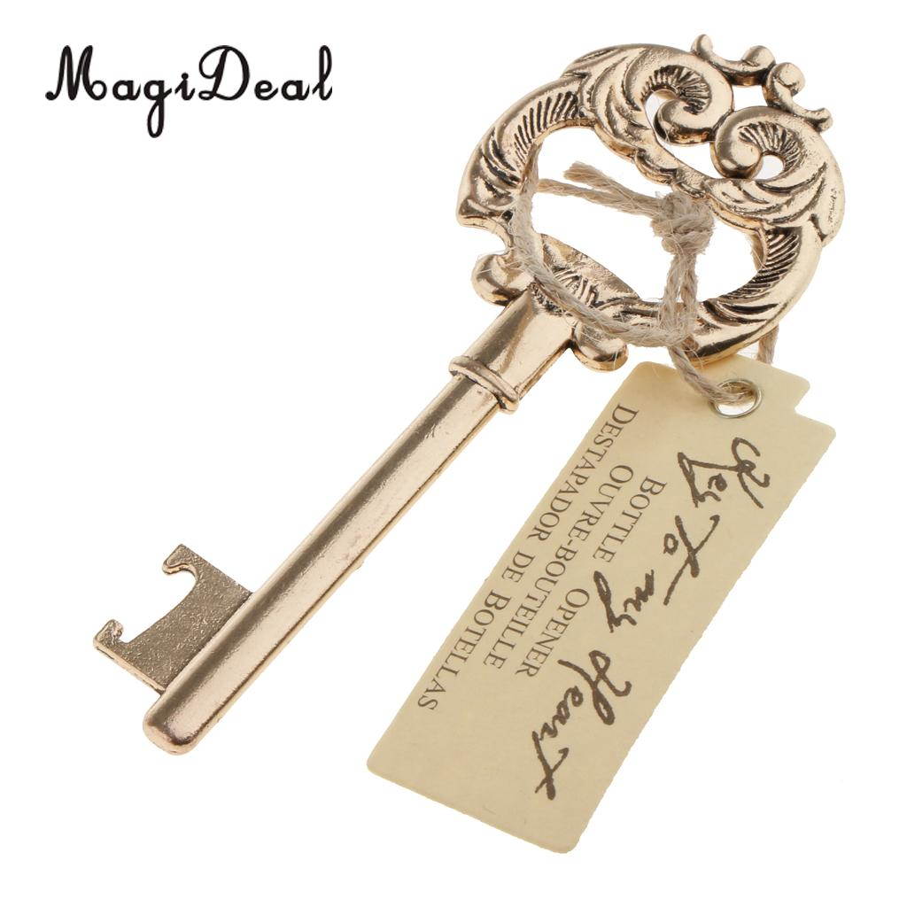 Vinage Golden Key To My Heart Bottle Opener Wine Beer Wedding Favour Gift