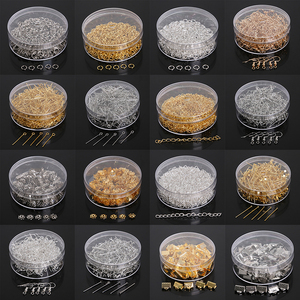100-500pcs/set Jump Ring/Beads Caps/Extended Chains/Pins/Claps/Earring Hooks Box PackagingJewelry Findings For Fashion Jewelry(China)