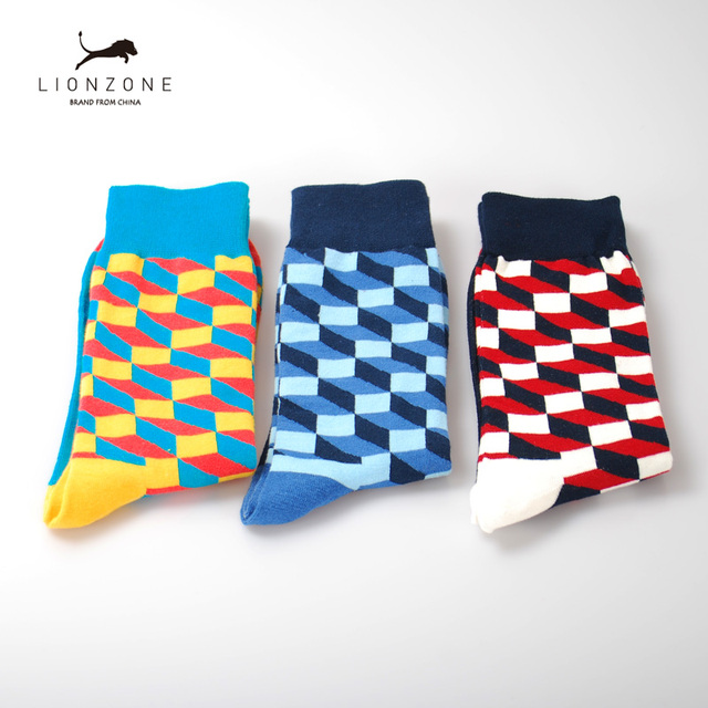 Mens Happy Socks 27 Colours Striped Plaid, Diamond, Cherry and more 1