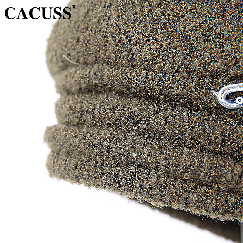 f40e705870d CACUSS Elegant Floral Fedoras Women Caps Party Berets England Type Female  Warm Bucket Wool Hats Hot Sale -in Fedoras from Apparel Accessories on ...