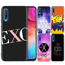 Black Dark Silicone Case for Samsung Galaxy A50 A30 A10 M30 Cases Cover Shell Coque EXO EVE(China)