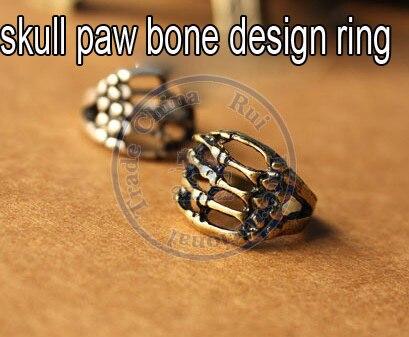 rings finger Fashion popular Jewelry for women Girls lady skull paw bone design CN post