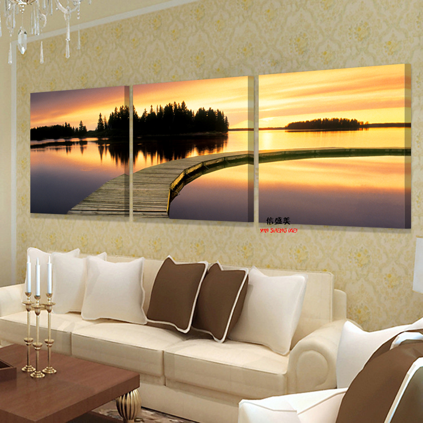No frames 3pcs picture cuadros decorativos home decoration wall for living room art canvas Canvas prints for living room