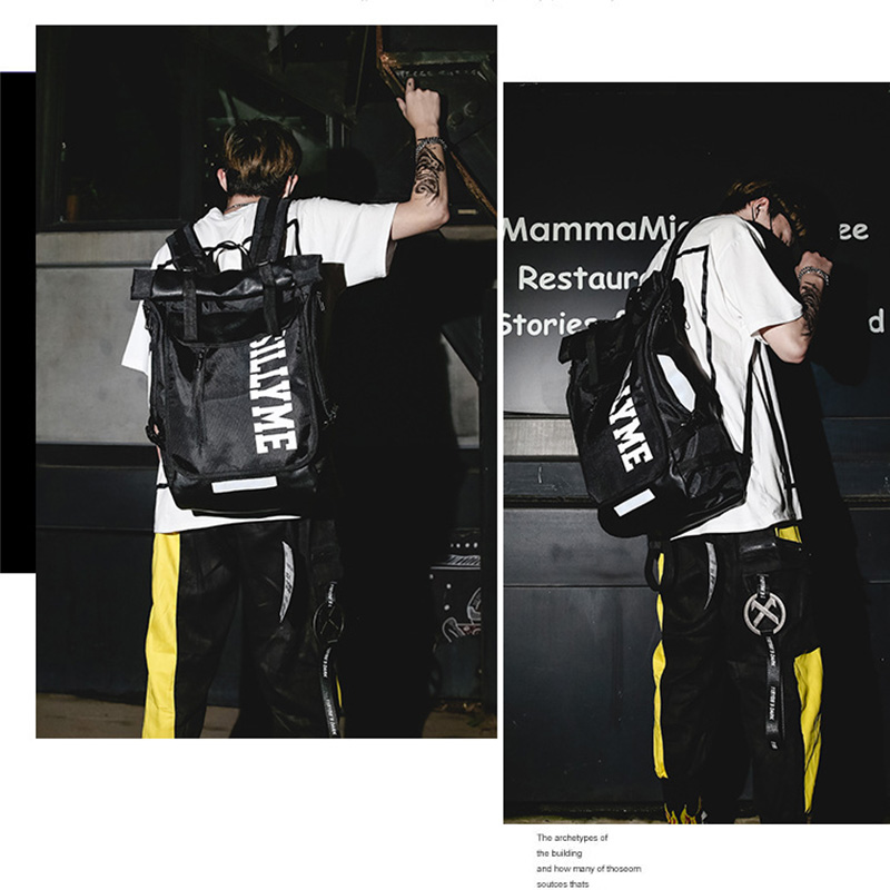 Hip hop Style Unisex Backpack Street Fashion Harajuku Letter Print Travel Bag Sports Backpack 4