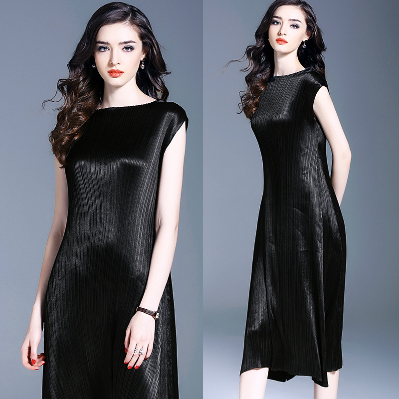 Bottoming Dress Autumn And Winter Europe And America Pleated Dresses Free Shipping