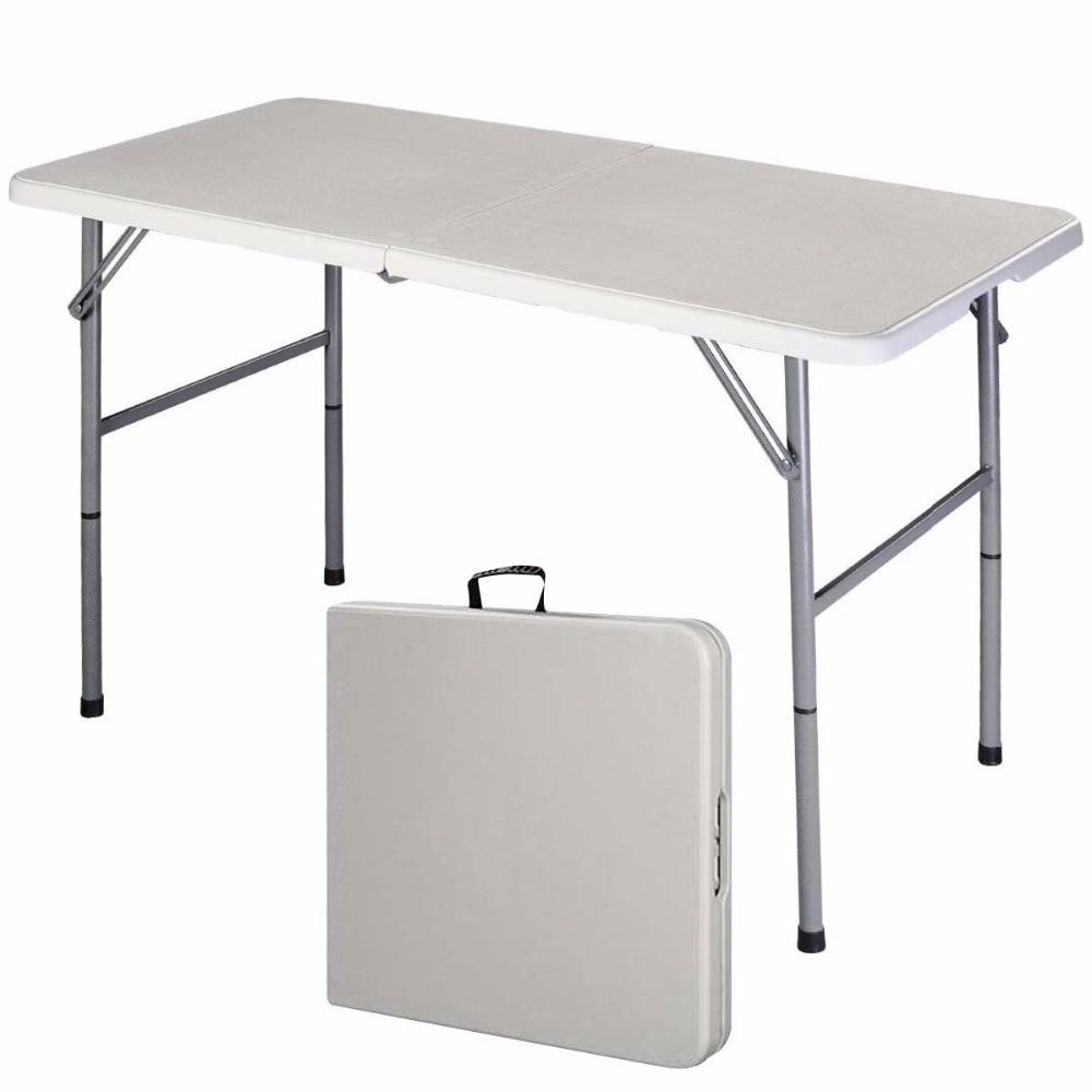 FleißIg Giantex Klapptisch Tragbare Picknick Party Dining Camp Tische Weiß Moderne Schreibtisch Utility Büro Computer Schreibtisch Op2968 Möbel