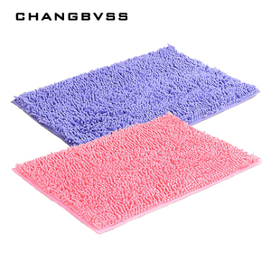 Image 2 - ברמה גבוהה Chenille החלקה גדול אמבטיה שטיחים 15 מוצק צבעים שטיחי אמבטיה שטיח 1pc שטיחים שטיחי אמבטיה
