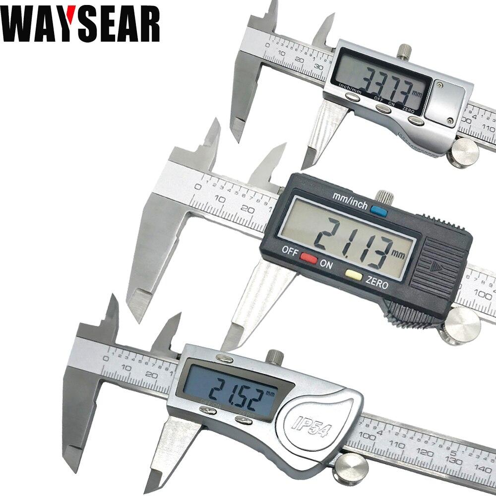 Vernier Digital calibrador electrónica vernier de metal de acero inoxidable de 150mm Micrómetro de medición de alta calidad