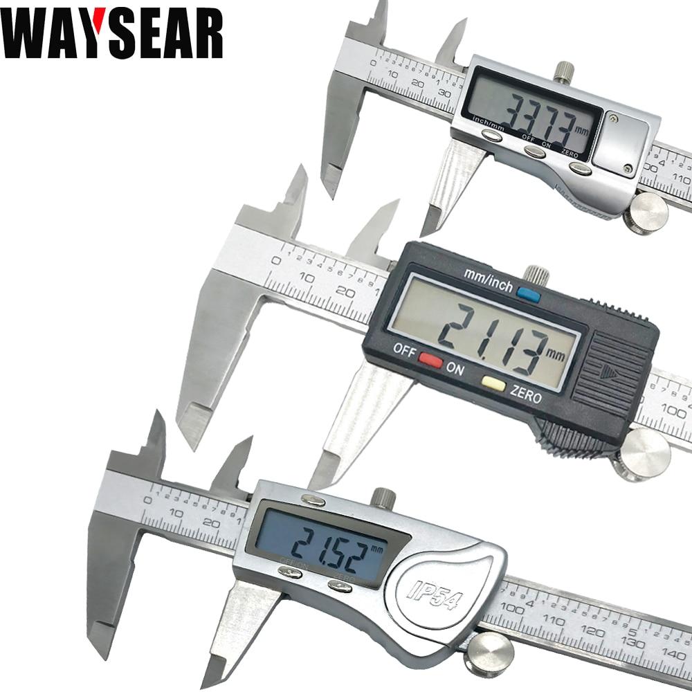 Calibrador Digital Vernier calibrador electrónico vernier acero inoxidable metal 150mm Acero inoxidable micrómetro medición alta calidad
