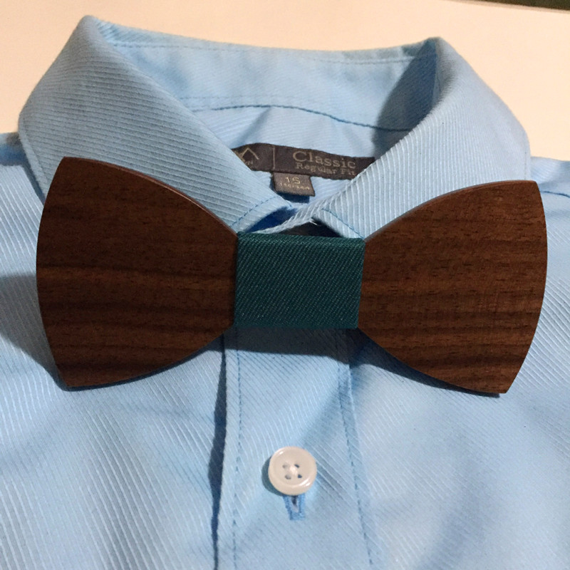 Mens Solid Wooden Bow Ties Clothes Accessory Novelty Mens Wood Bowknots Bow Tie For Wedding Party Plaid Pattern High-grade Tie