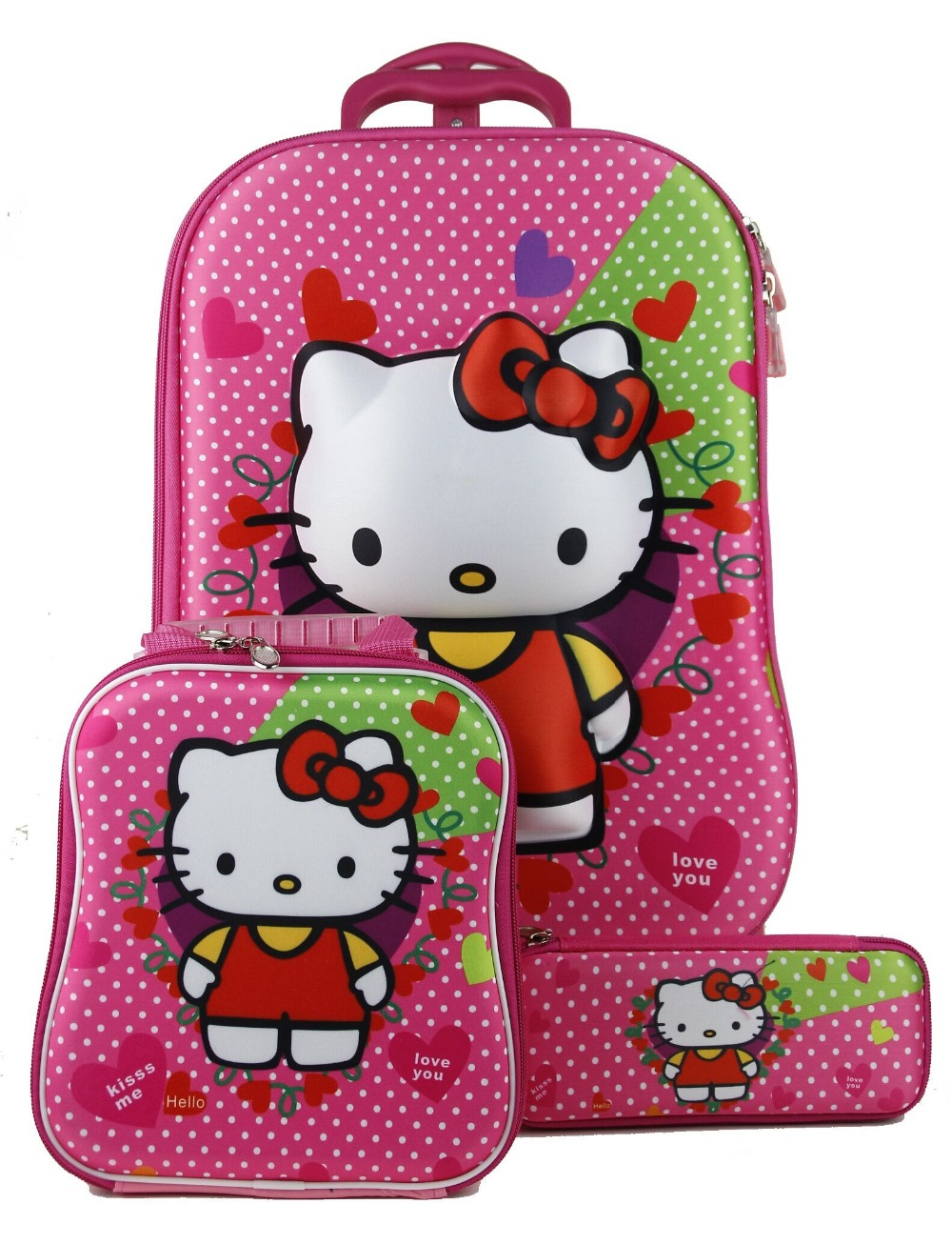 Luggage & Travel Bags Brand Hello Kitty Cartoon 18 Inch Students Travel Trolley Case Children Boarding Box Anime Girl Luggage Child Rolling Suitcase Numerous In Variety