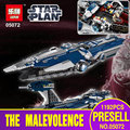 Lepin 05072 1192Pcs Star War Series The Limited Edition Malevolence Warship Set Children Building Blocks Bricks Toys Model 9515